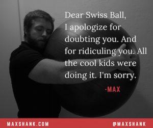 Max hug swiss ball
