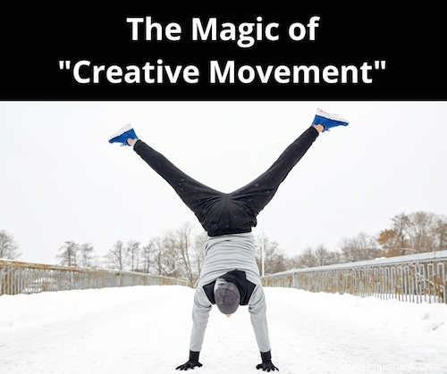 Man doing Creative Movement in Snow